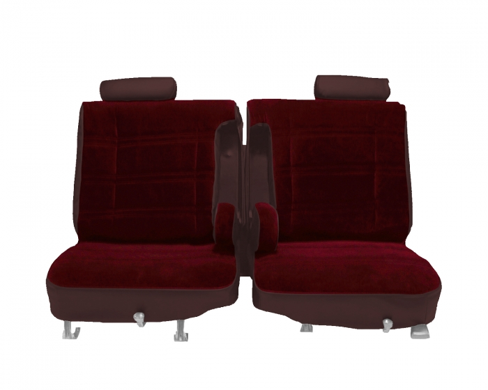 Chevrolet El Camino Seat Covers 1978 1980 With Dual Center Arm Rests